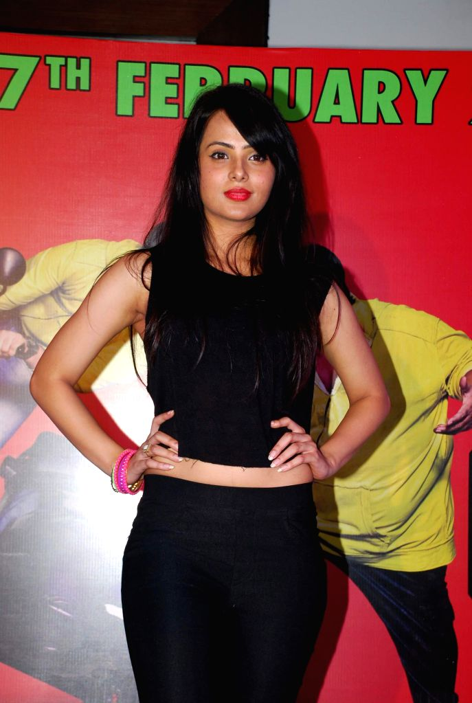 Actor Nupur Sharma during the promotion of his film Hey Bro in Mumbai, on Feb 14, 2015. - Nupur Sharma