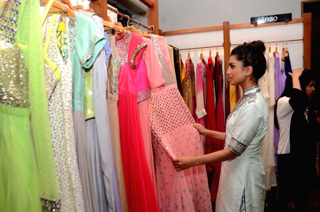 Actor Pallavi Sharda during the launch of fashion designer Kanika Kedia's Spring Summer collection 2015 in Mumbai, on March 16, 2015. - Pallavi Sharda