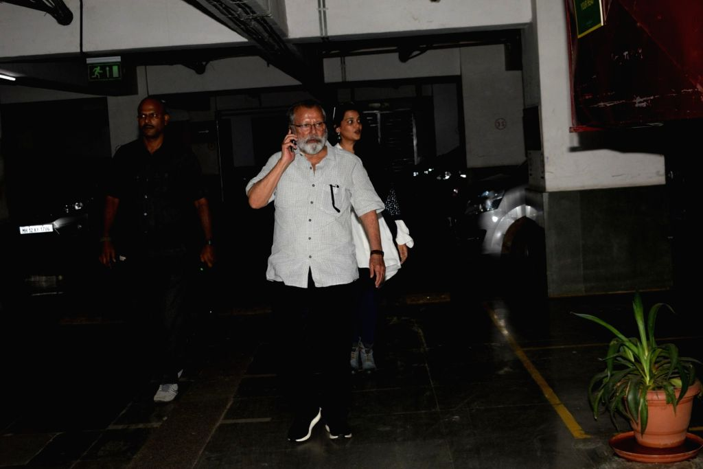 "Mumbai: Actor Pankaj Kapur at the screening of upcoming film ""Kabir Singh""€, in Mumbai on June 20, 2019. (IANS) - Pankaj Kapur and Kabir Singh"