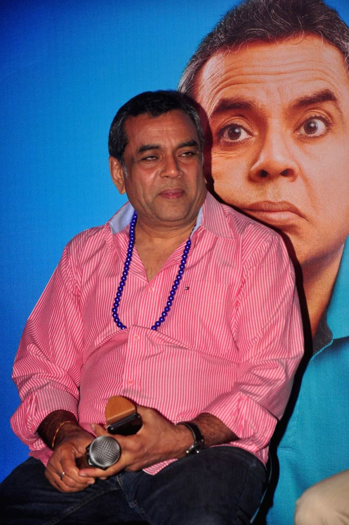 Actor Paresh Rawal during the trailer launch of film Dharam Sankat Mein in Mumbai on March 7, 2015. - Paresh Rawal