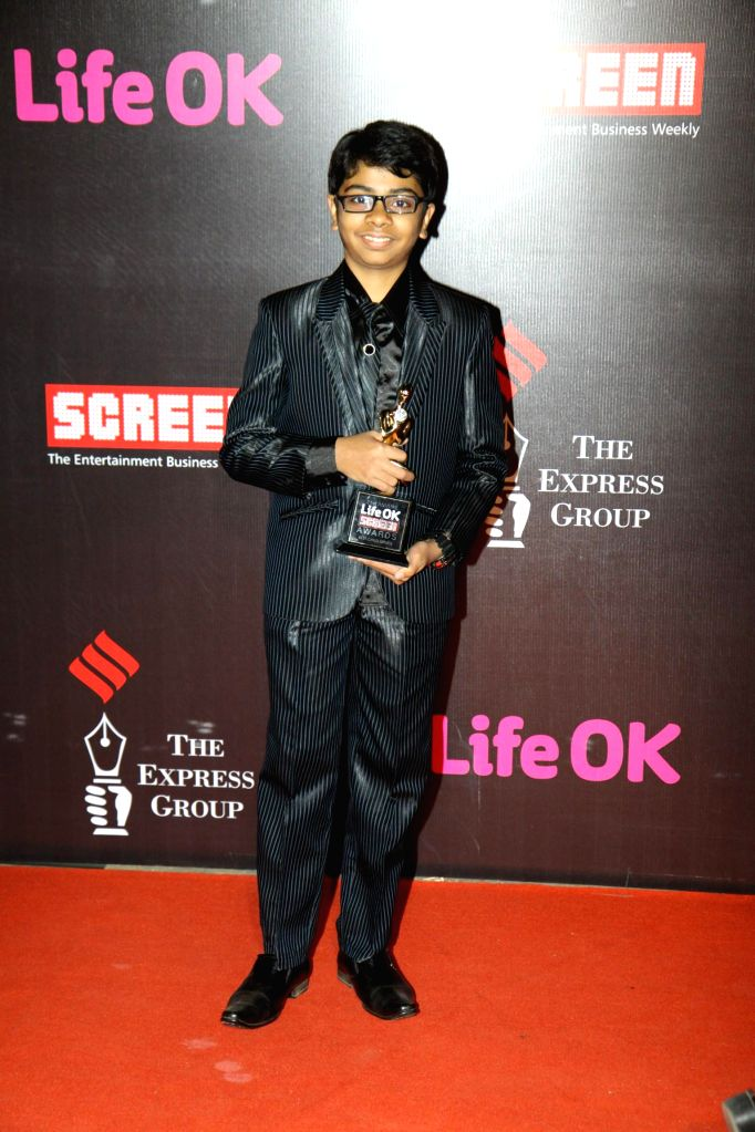 Actor Parth Bhalerao during the 21st Annual Life OK Screen Awards in Mumbai on Jan. 14, 2015. - Parth Bhalerao