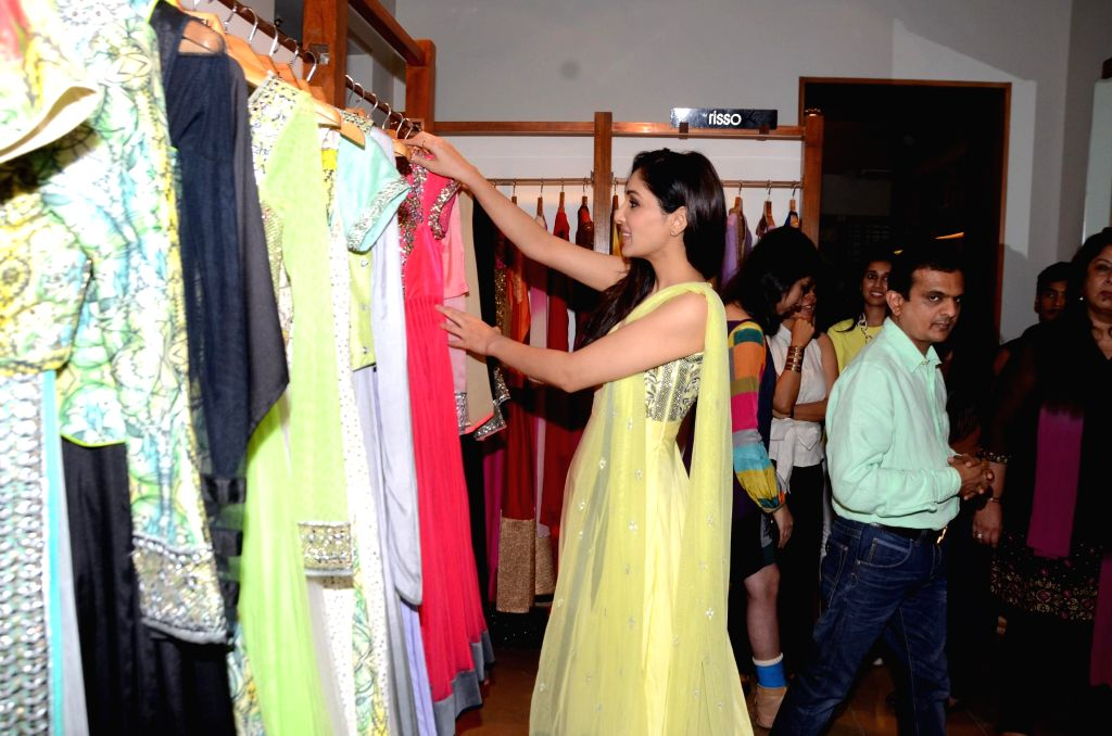 Actor Pooja Chopra during the launch of fashion designer Kanika Kedia's Spring Summer collection 2015 in Mumbai, on March 16, 2015. - Pooja Chopra