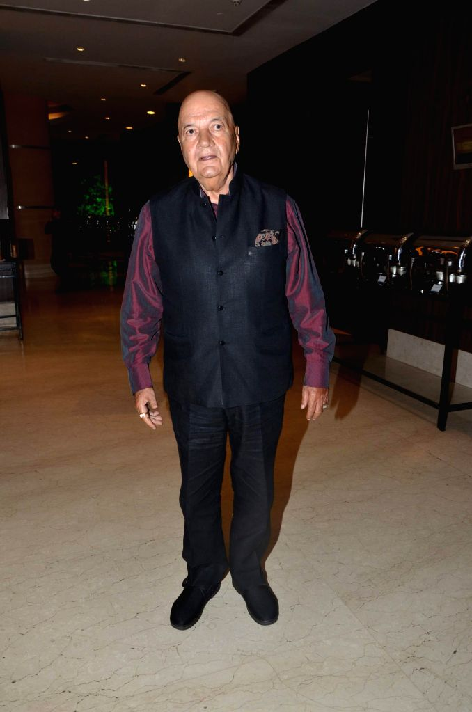 Actor Prem Chopra during Karan Patel and Ankita Bhargava`s engagement and sangeet ceremony at the Novotel Hotel in Juhu, Mumbai on 1st May, 2015. - Prem Chopra
