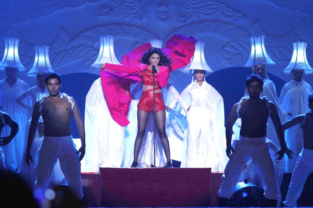 Actor Priyanka Chopra performs during television show Got Talent World Stage Live in Mumbai on Dec 6, 2014. - Priyanka Chopra