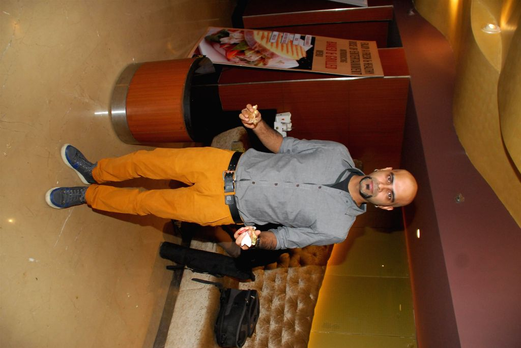 Actor Raghu Ram during the screening of film Sulemani Keeda in Mumbai,on Dec 10, 2014. - Raghu Ram