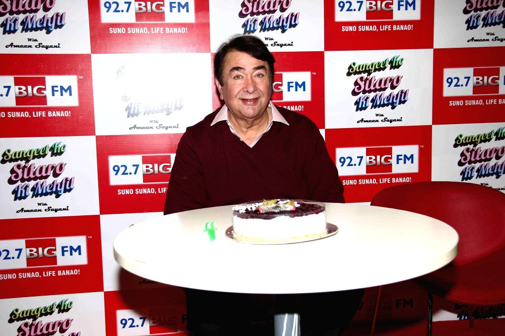 Actor Randhir Kapoor celebrates his 68th birthday with 92.7 Big FM in Mumbai, on Jan. 30, 2015.