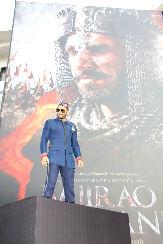 : Mumbai: Actor Ranveer Singh during the poster launch of film `Bajirao Mastani`, on Nov 4, 2015. (Photo: IANS). - Ranveer Singh