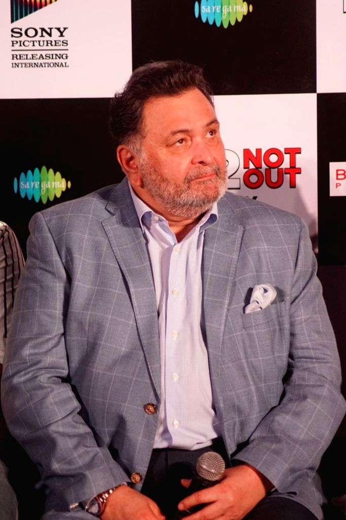 "Mumbai: Actor Rishi Kapoor at the song launch of his upcoming film ""102 Not Out"" in Mumbai on April 19, 2018. (Photo: IANS) - Rishi Kapoor"