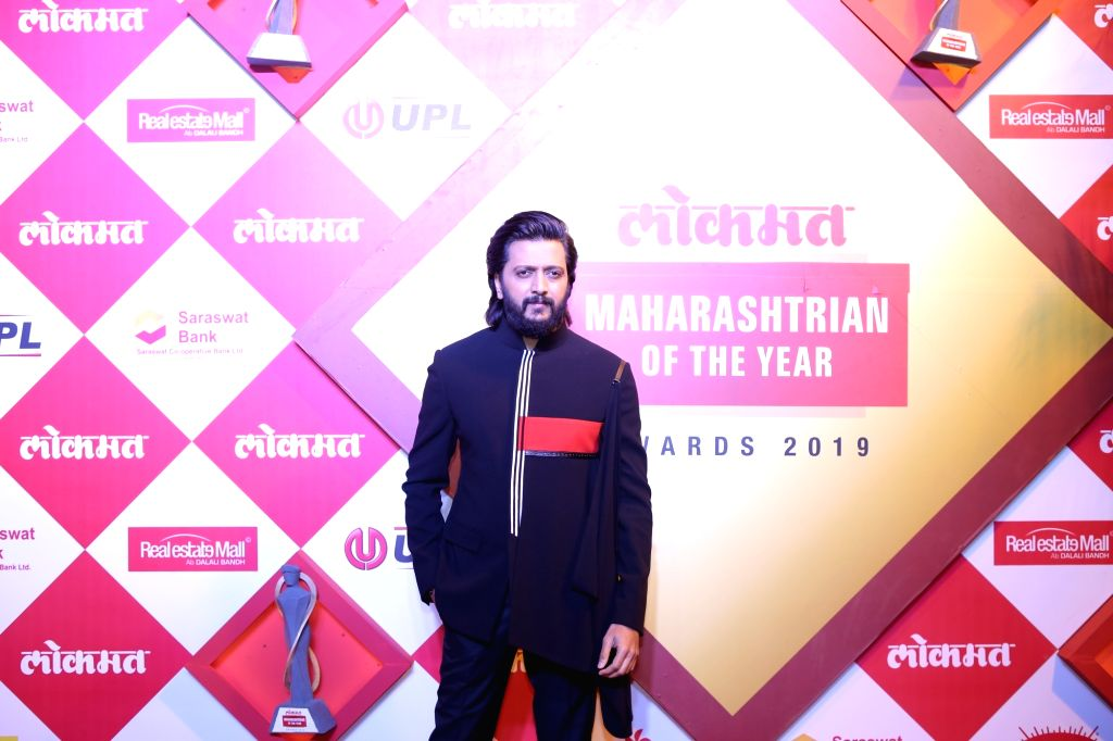 Mumbai: Actor Riteish Deshmukh at Lokmat Maharashtrian of the Year Awards 2019 in Mumbai, on Feb 20, 2019. (Photo: IANS) - Riteish Deshmukh