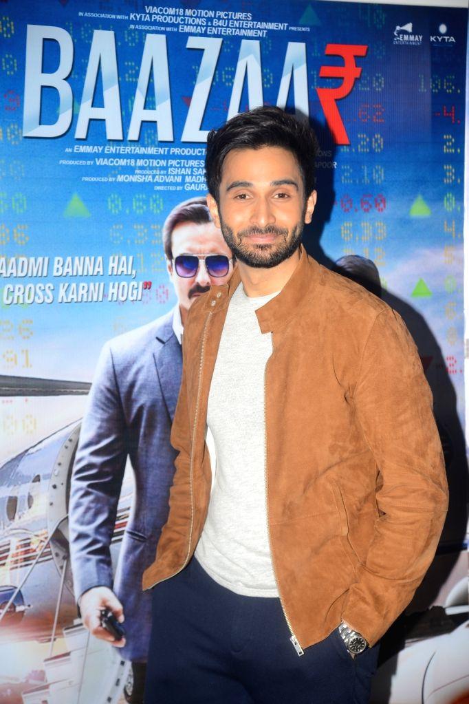 ":Mumbai: Actor Rohan Mehra during the promotions of his upcoming film ""Baazaar"", in Mumbai on Oct 20, 2018. (Photo: IANS)."