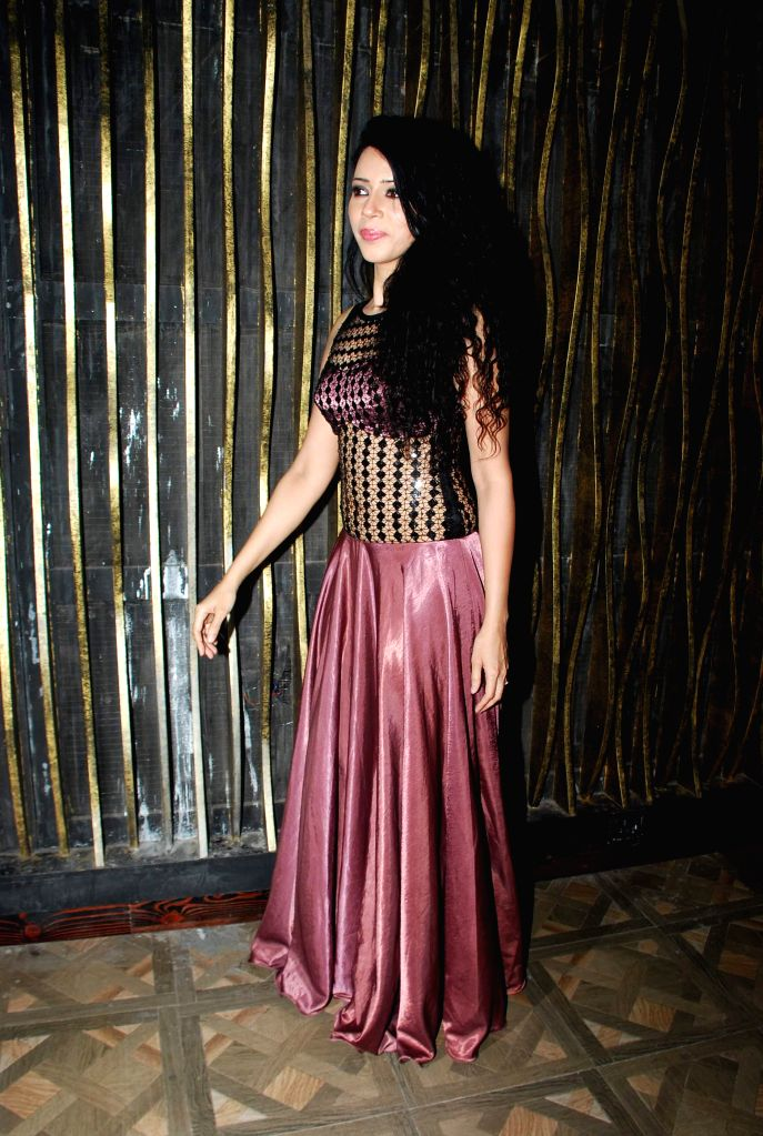 Actor Rozlyn Khan during the music launch of film Tere Ishq Mein Kurban in Mumbai, on Jan. 12, 2015. - Rozlyn Khan