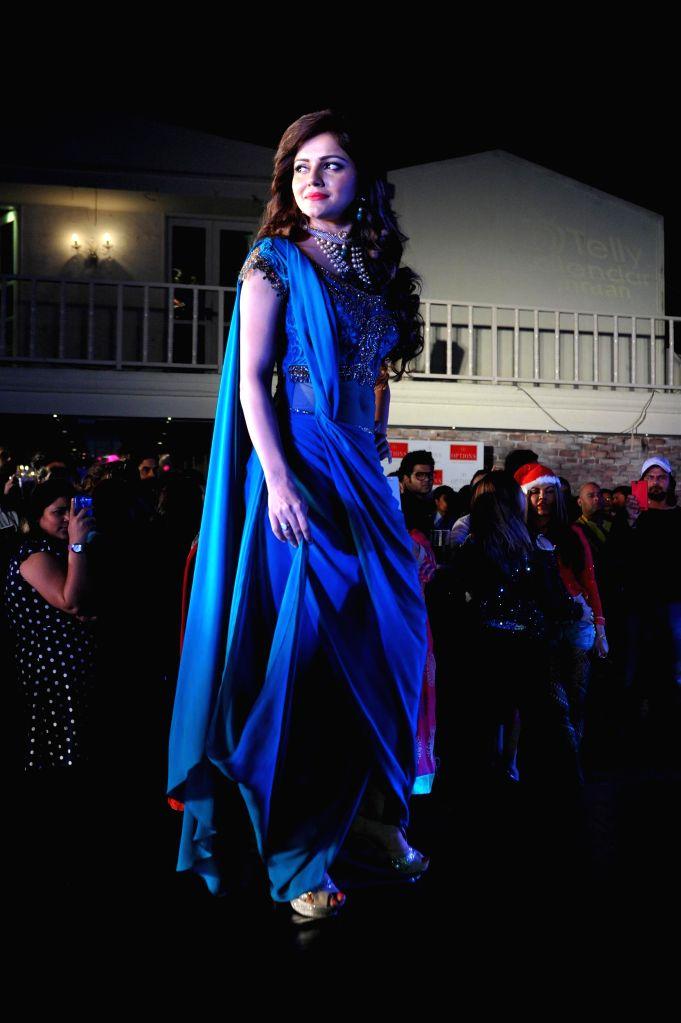 Actor Rubina Dilaik during the launch of Telly Calender 2015 in Mumbai, on Dec 23, 2014. - Rubina Dilaik