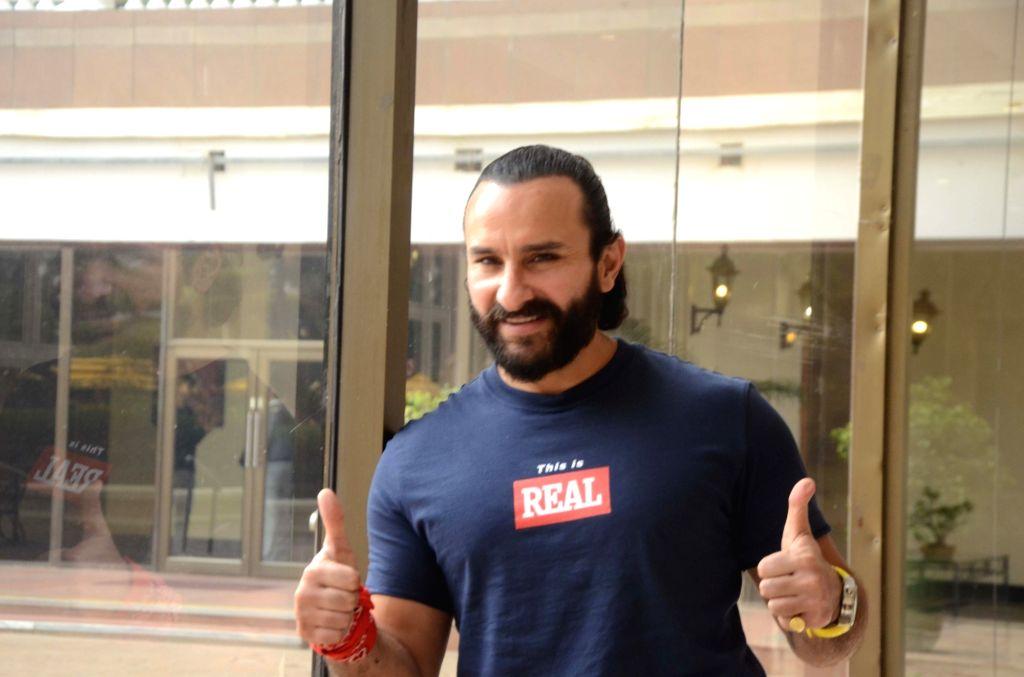 Mumbai: Actor Saif Ali Khan seen at a Mumbai hotel, on Oct 13, 2018. (Photo: IANS) - Saif Ali Khan