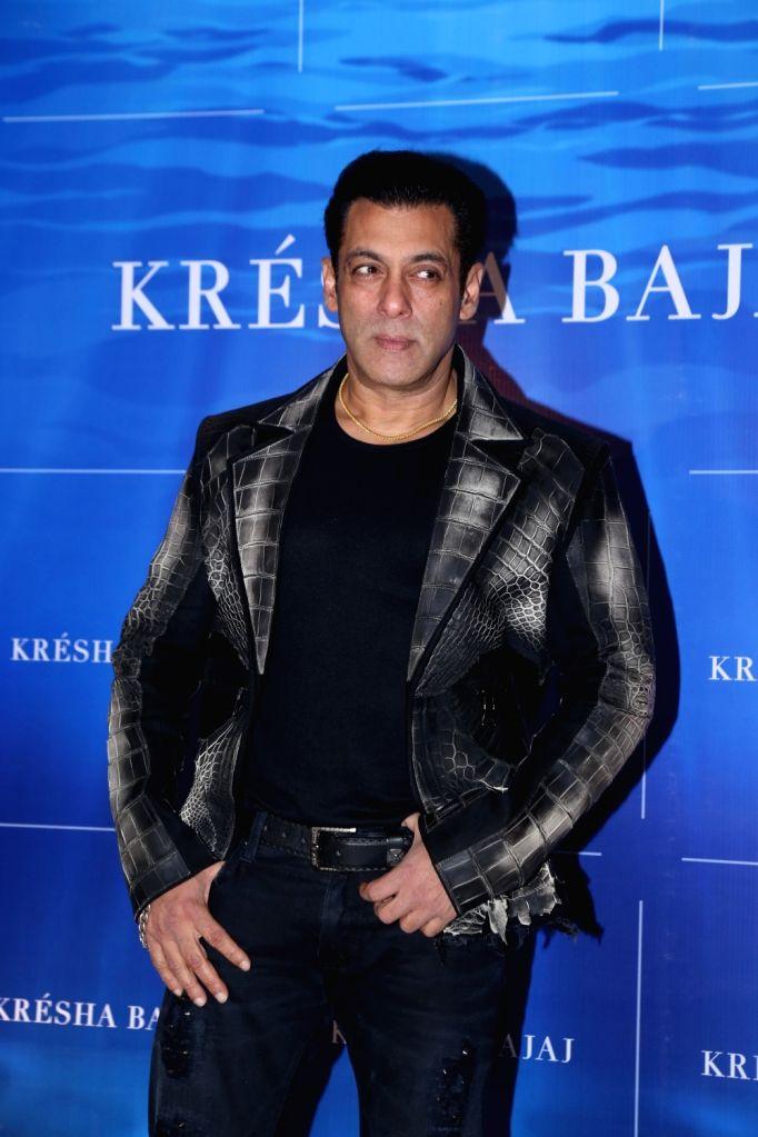 Mumbai: Actor Salman Khan arrives at the first year anniversary celebration of fashion designer Kresha Bajaj's store in Mumbai on Dec 7, 2019. (Photo: IANS) - Salman Khan