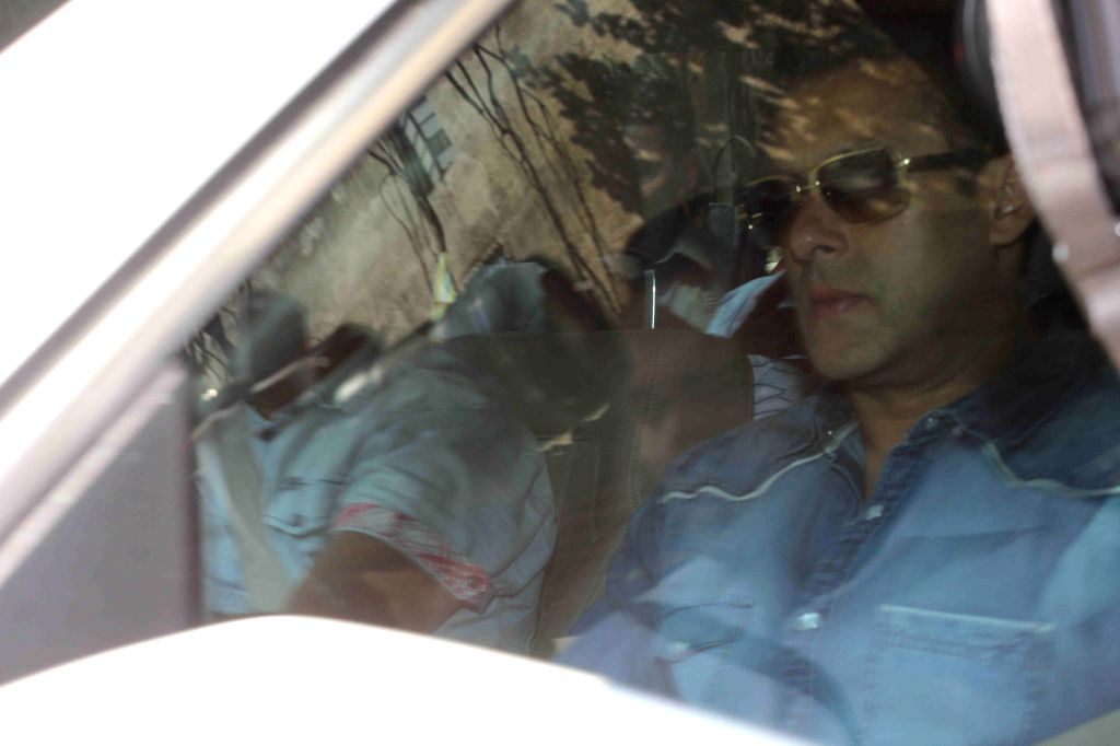 Actor Salman Khan arrives to appear before a Mumbai court in connection with the infamous 2002 hit and run case on March 12, 2015.