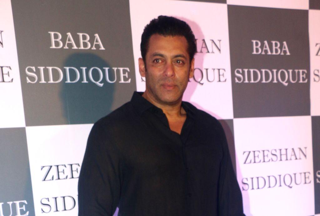Mumbai: Actor Salman Khan at Congress leader Baba Siddique's Iftar party in Mumbai, on June 2, 2019. (Photo: IANS) - Salman Khan