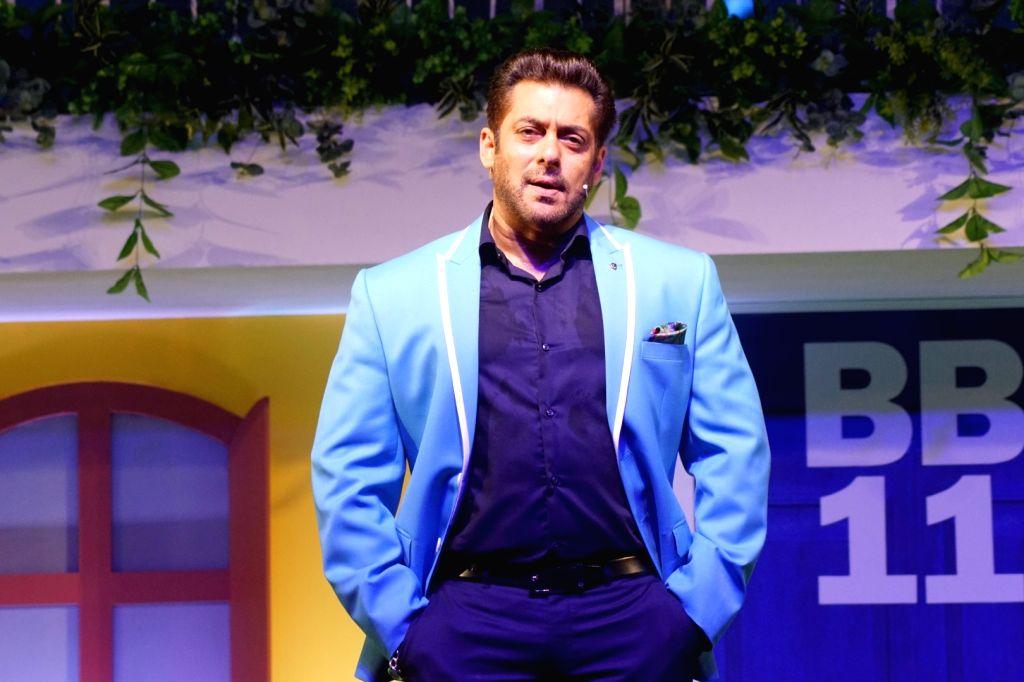 "Mumbai: Actor Salman Khan during the launch of ""Bigg Boss"" Season 11 in Mumbai on Sept 26, 2017 . (Photo: IANS) - Salman Khan"