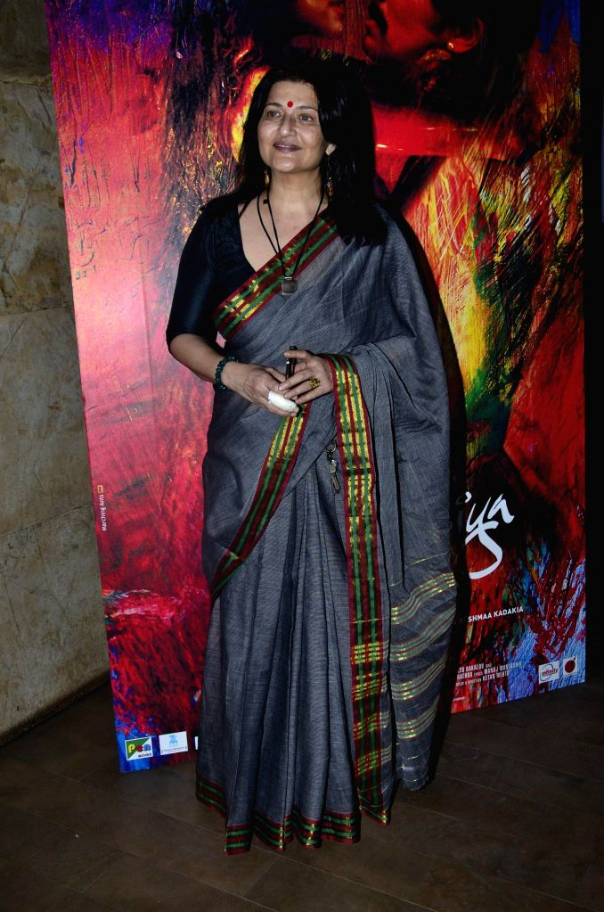 Actor Sarika during the screening of film Rang Rasiya, in Mumbai, on Nov. 4, 2014. - Sarika