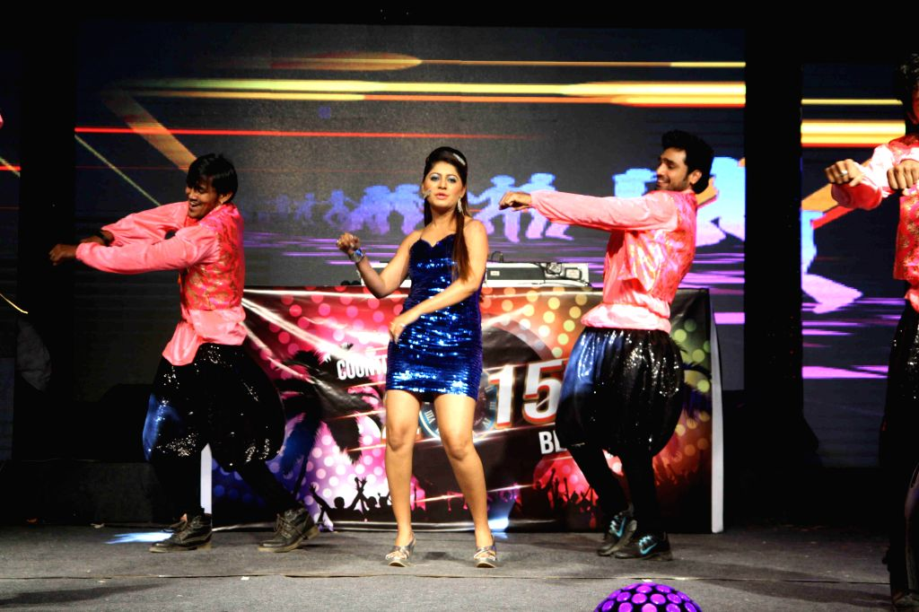 Actor Sejal Mandavia performs during the new year celebrations in Mumbai, on Dec. 31, 2014. - Sejal Mandavia