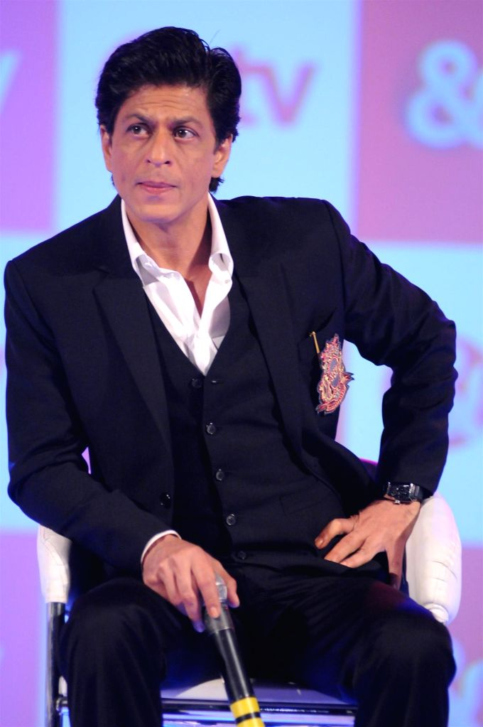 Actor Shah Rukh Khan during the launch of new Hindi entertainment channel &TV in Mumbai on Jan 21, 2015. - Shah Rukh Khan