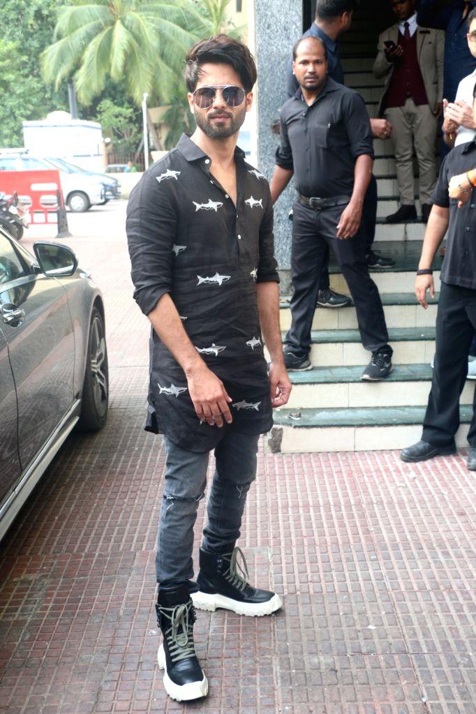 "Mumbai: Actor Shahid Kapoor at the screening of his upcoming film ""Kabir Singh"", in Mumbai, on June 23, 2019. (Photo: IANS) - Shahid Kapoor and Kabir Singh"