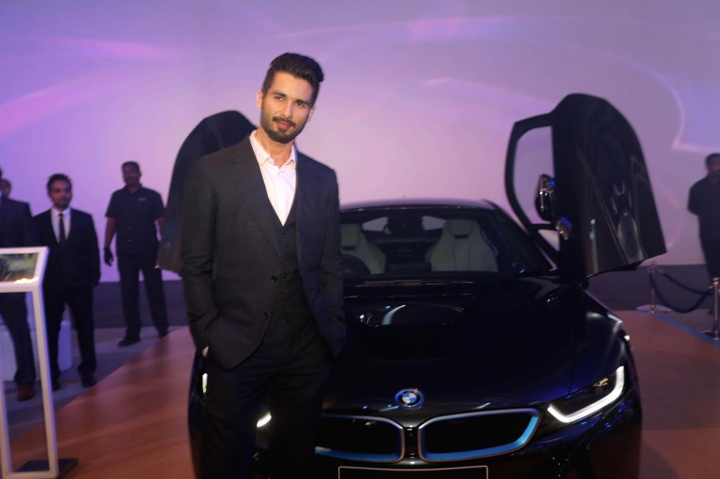 Actor Shahid Kapoor during the launch of BMW i8 hybrid sports car in Mumbai on February 18, 2015. - Shahid Kapoor