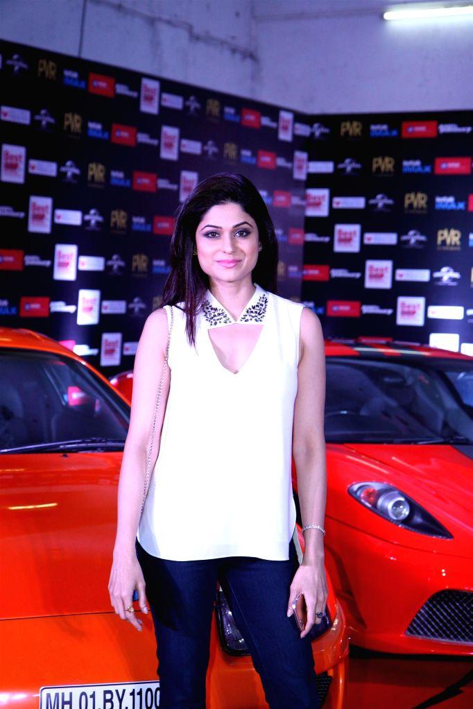 Actor Shamita Shetty during the premier show of the film Fast & Furious  in Mumbai on April 1, 2015. - Shamita Shetty
