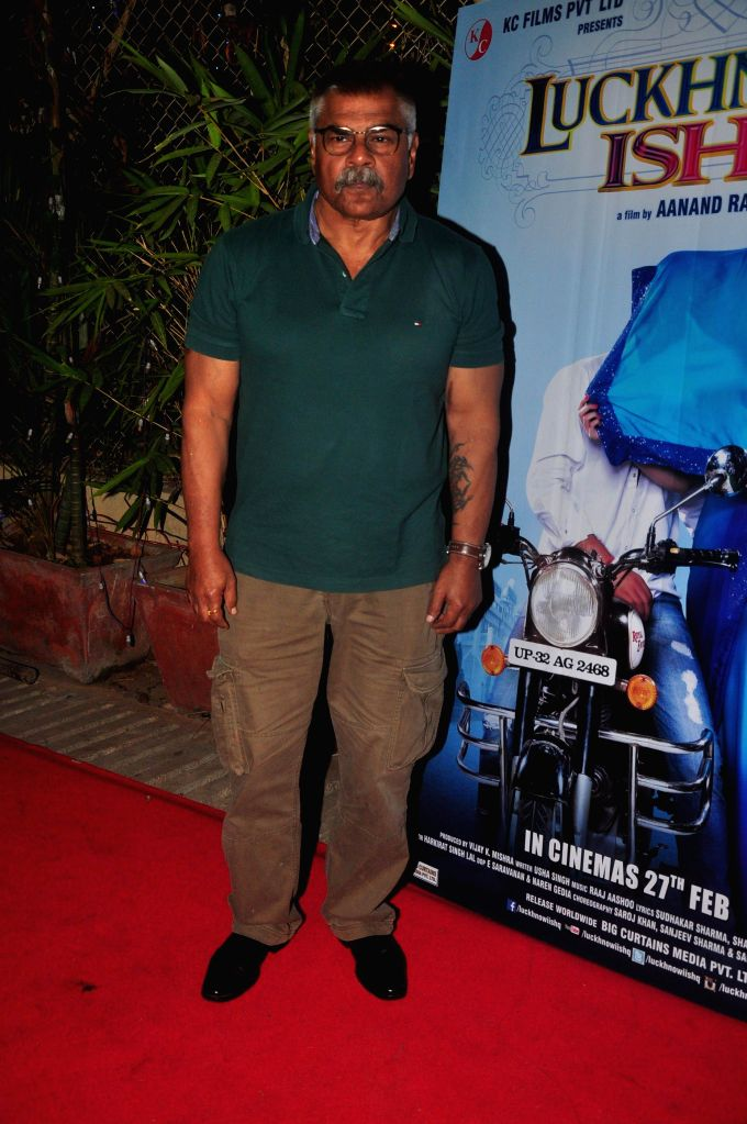 Actor Sharat Saxena during the first look on film Lucknowi Ishq in Mumbai on 28th January 2015 - Sharat Saxena