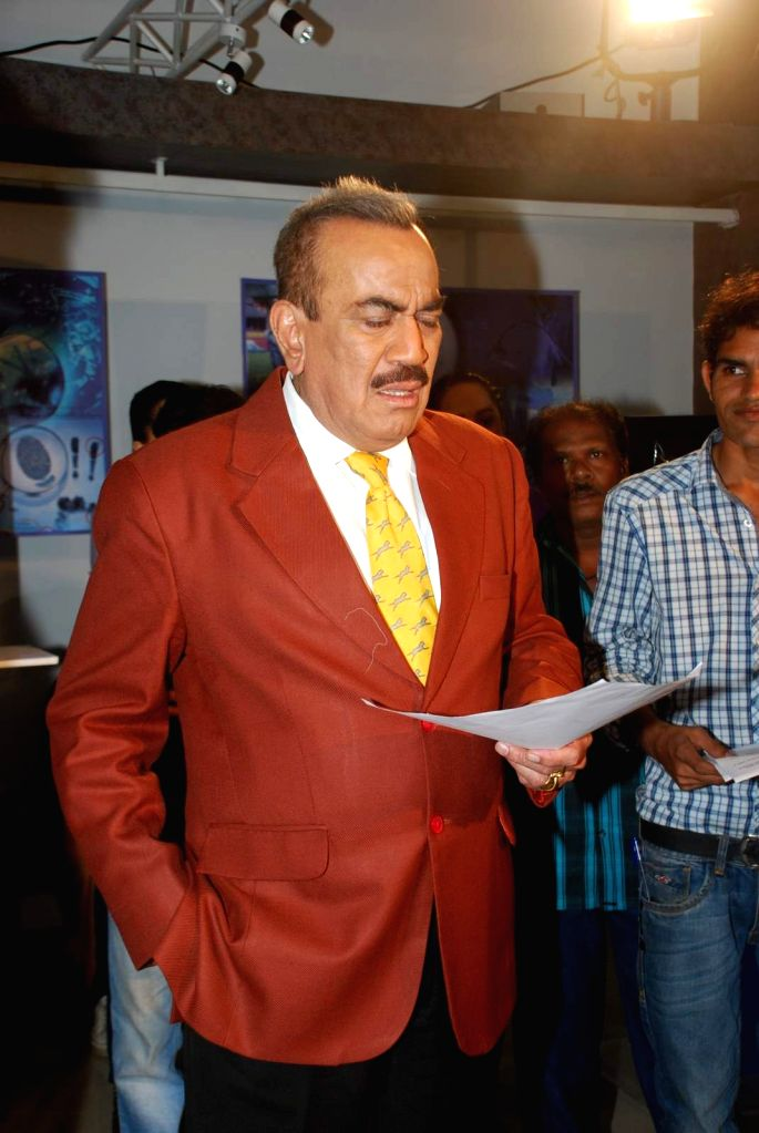 Actor Shivaji Satam during the promotion of the film Mr X on the sets of television serial CID, in Mumbai on April 12th, 2015. - Shivaji Satam