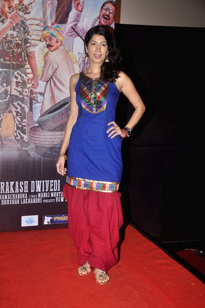 Actor Shivani Tanksale during the press conference of upcoming film Zed Plus in Mumbai on Nov. 11, 2014. - Shivani Tanksale
