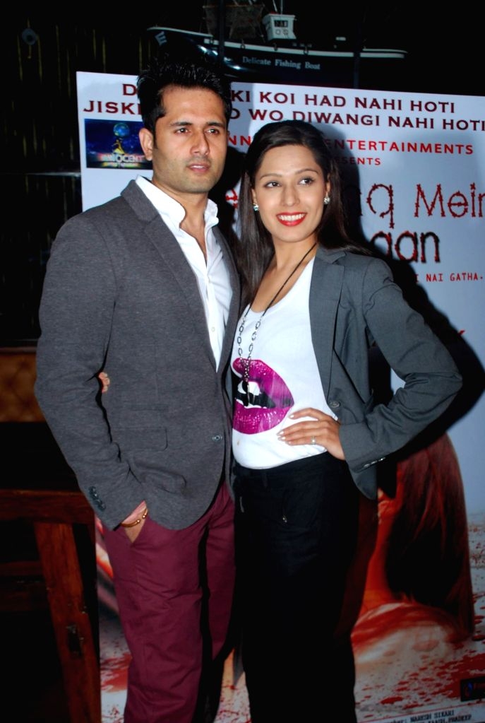 Actor Shobhit Attray and Sonam Arora during the music launch of film Tere Ishq Mein Kurban in Mumbai, on Jan. 12, 2015. - Shobhit Attray and Sonam Arora