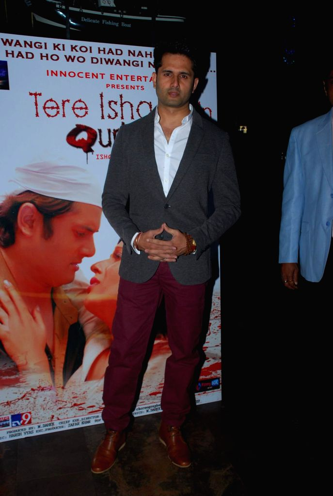 Actor Shobhit Attray during the music launch of film Tere Ishq Mein Kurban in Mumbai, on Jan. 12, 2015. - Shobhit Attray