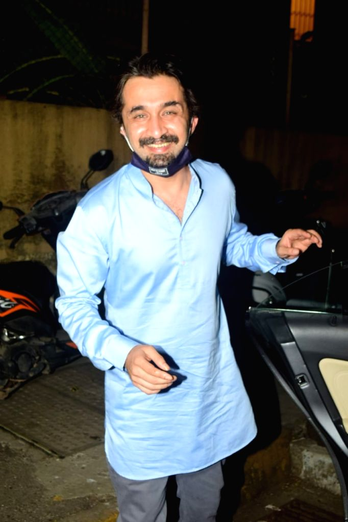 Mumbai: Actor Siddhanth Kapoor at the engagement ceremony of his cousin Priyank Sharma, in Mumbai on Dec 23, 2020. (Photo: IANS) - Siddhanth Kapoor and Priyank Sharma