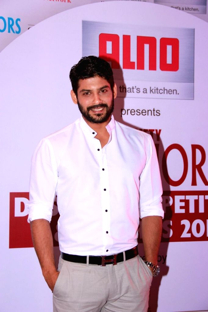 Actor Siddharth Shukla during the 13th Society Interiors Design Competition and Awards in Mumbai on Feb 21, 2015. - Siddharth Shukla