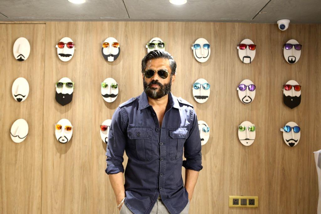 Mumbai: Actor Suniel Shetty at the launch of an eyewear boutique in Mumbai's Khar on Dec 22, 2018. (Photo: IANS) - Suniel Shetty