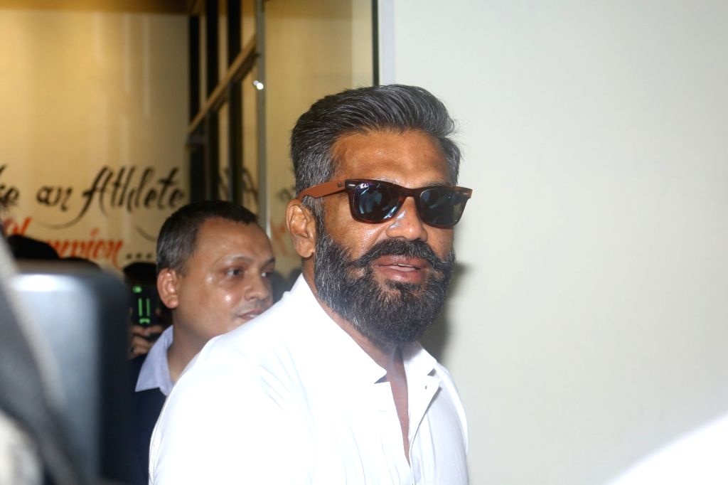 Mumbai: Actor Suniel Shetty during the launch of a gym in Mumbai on May 17, 2017. (Photo: IANS) - Suniel Shetty