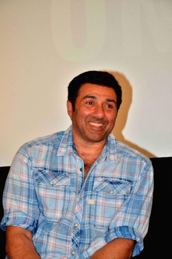 :Mumbai: Actor Sunny Deol during the trailer launch of film Ghayal Once Again in Mumbai on Nov 10, 2015. (Photo: IANS).
