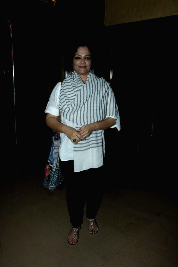 Actor Tanvi Azmi during special screening of digitally restored film Garm Hava at PVR Cinemas in Mumbai on Nov. 11, 2014. - Tanvi Azmi