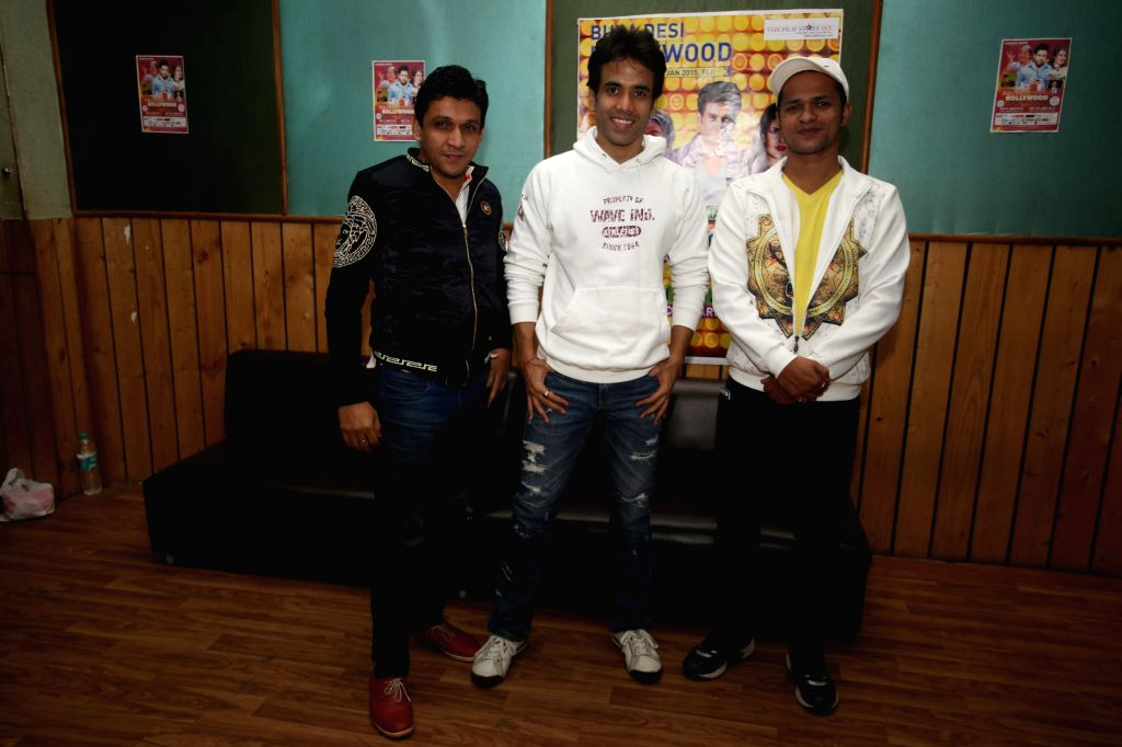 "Actor Tusshar Kapoor rehearses for ""Bula Desi Bollywood"" show, part of Bollywood Live in Concert in Fiji on Jan 9-10,  in Mumbai on Dec 24, 2014 - Tusshar Kapoor"