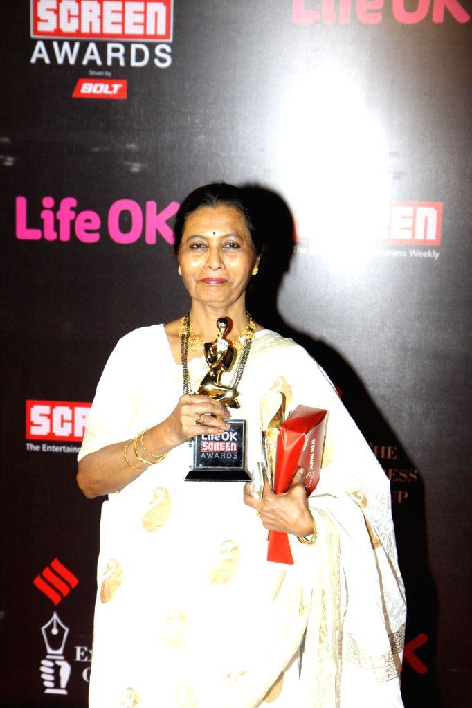 Actor Usha Naik during the 21st Annual Life OK Screen Awards in Mumbai on Jan. 14, 2015. - Usha Naik