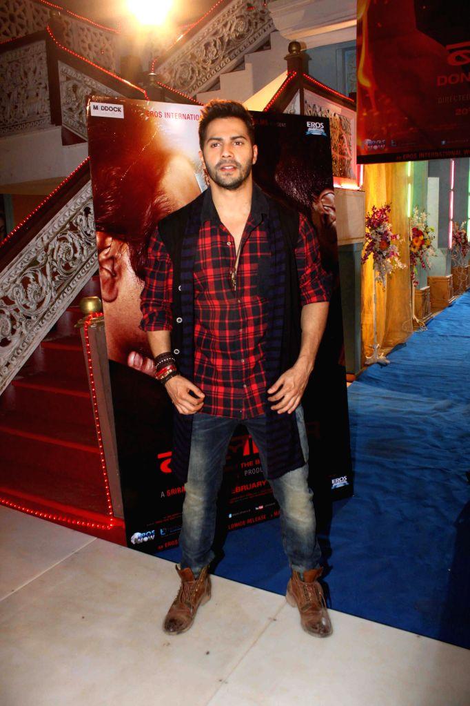 Actor Varun Dhawan during the promotion of film Badlapur on the sets CID TV serial in Mumbai, on Feb 5, 2015.