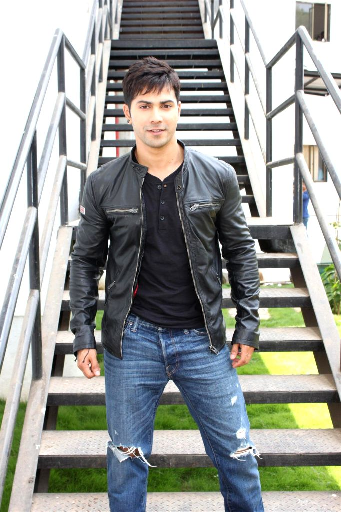 Actor Varun Dhawan on the sets of Nach Baliye 7 during the promotion of his upcoming film Any Body Can Dance 2 (ABCD2) in Mumbai on May 17, 2015. - Varun Dhawan
