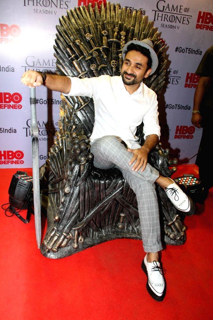 Actor Vir Das at the premiere of film `Game of Thrones` Season 5 in Mumbai on April 9, 2015. - Vir Das