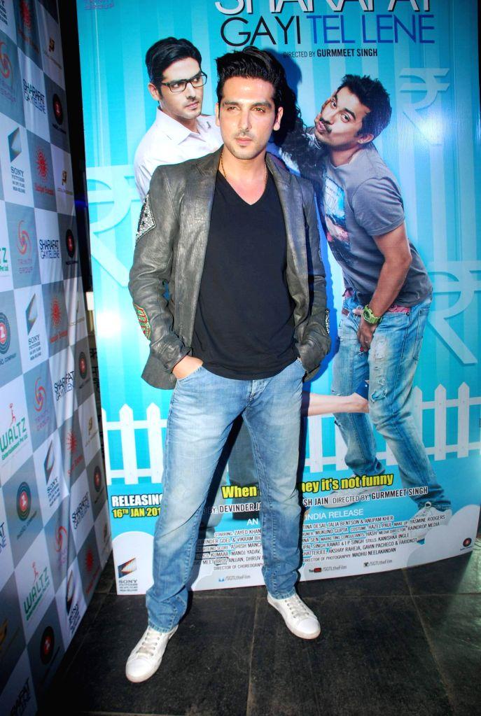 Actor Zayed Khan during the music launch of film Sharafat Gayi Tel Lene in Mumbai on Thursday, Dec 11, 2014. - Zayed Khan