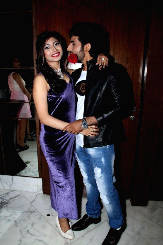 Actors Amrita Das Gupta and Manoj Juneja during the music launch of film Three Atrangi Jai-Veeru-Gabbar in Mumbai on March 20, 2015. - Amrita Das Gupta and Manoj Juneja