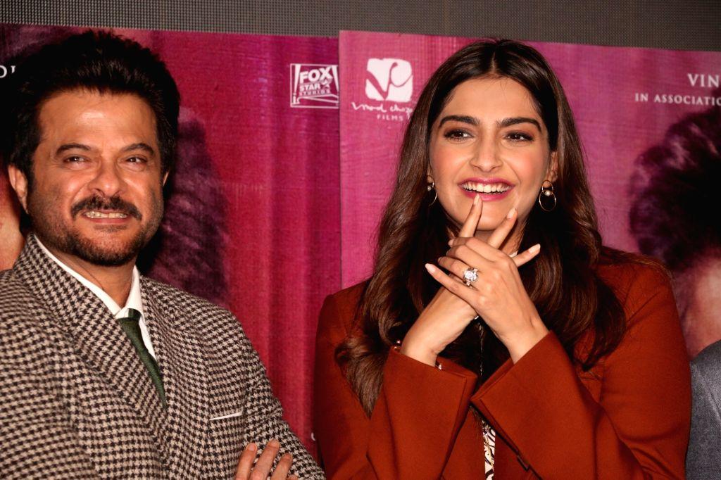 Mumbai: Actors Anil Kapoor and Sonam Kapoor. (File Photo: IANS) - Anil Kapoor and Sonam Kapoor