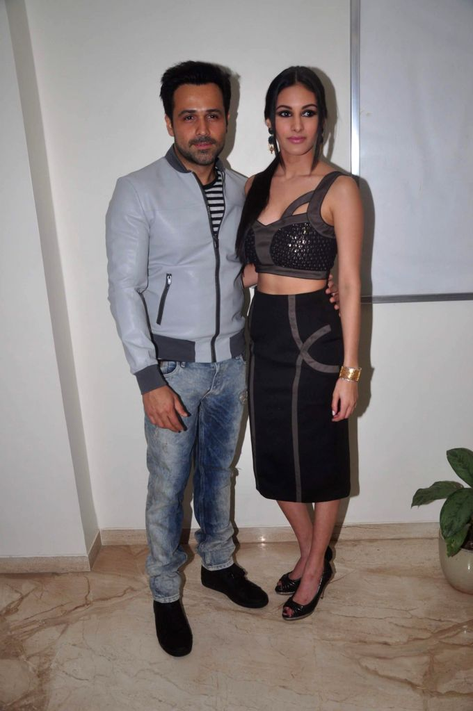Actors Emraan Hashmi and Amyra Dastur at film Mr. X first look launch in Mumbai on March 4, 2015. - Emraan Hashmi and Amyra Dastur