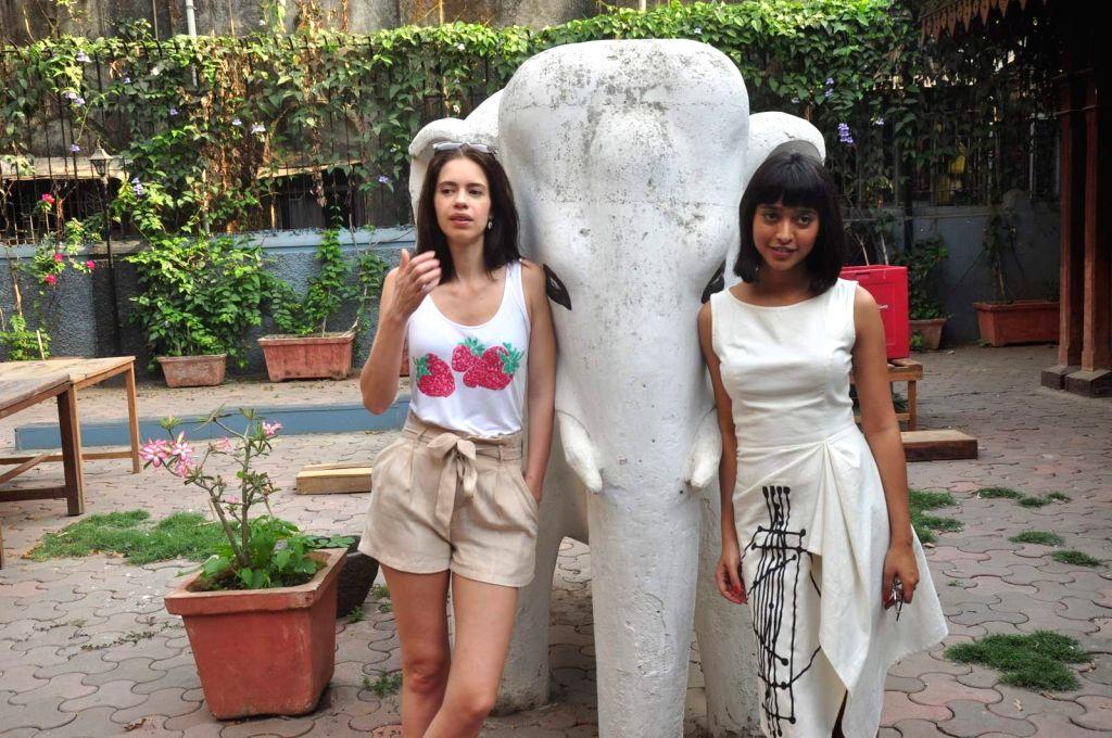 Actors Kalki Koechlin and Sayani Gupta during a Special screening of film Margarita With A Straw in Mumbai on April 19, 2015. - Kalki Koechlin and Sayani Gupta