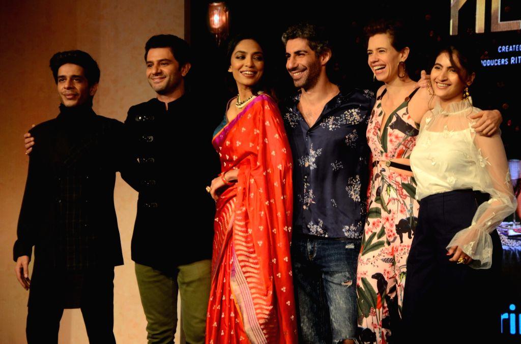 "Mumbai: Actors Kalki Koechlin, Jim Sarbh, Arjun Mathur, Sobhita Dhulipala, Shivani Raghuvanshi and Shashank Arora during the launch of their upcoming web series ""Made In Heaven"" at Amazon Prime Video in Mumbai, on March 7, 2019. (Photo: IANS) - Kalki Koechlin, Jim Sarbh, Arjun Mathur, Sobhita Dhulipala, Shivani Raghuvanshi and Shashank Arora"