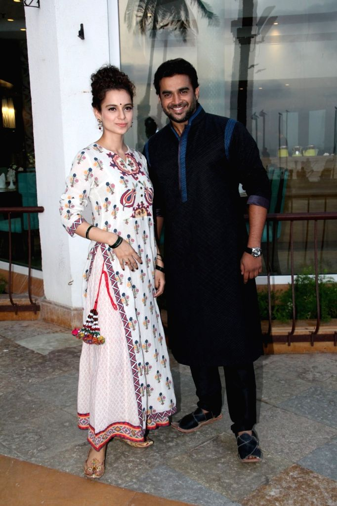 Actors Kangana Ranaut and R Madhavan during a promotion for their upcoming movie `Tanu Weds Manu Returns` in Mumbai on, April 29, 2015. - Kangana Ranaut